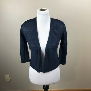 Navy Blue Cropped Cardigan From Cynthia Rowley